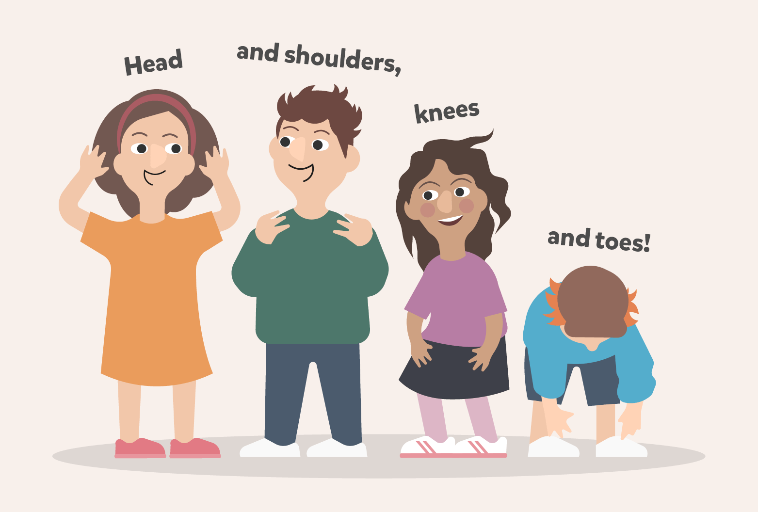 Песня «Head, Shoulders, Knees and Toes»