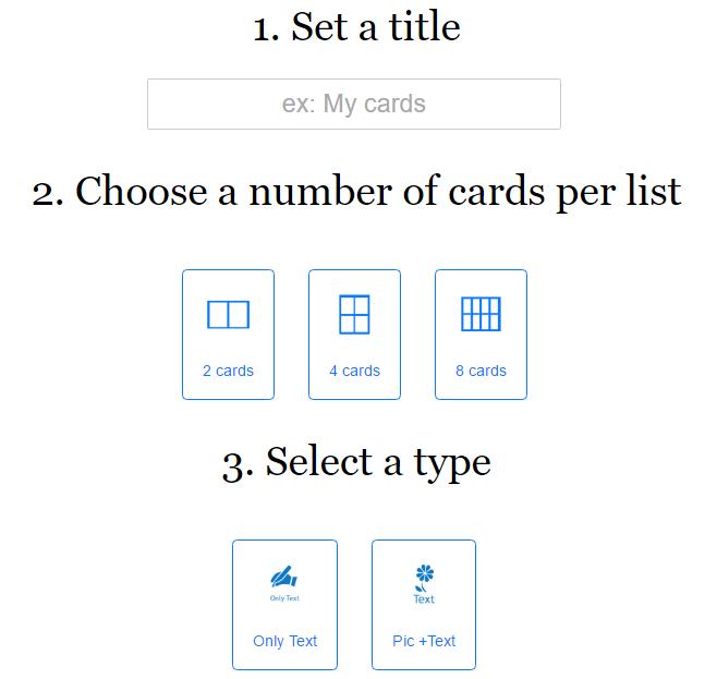 параметры карточек