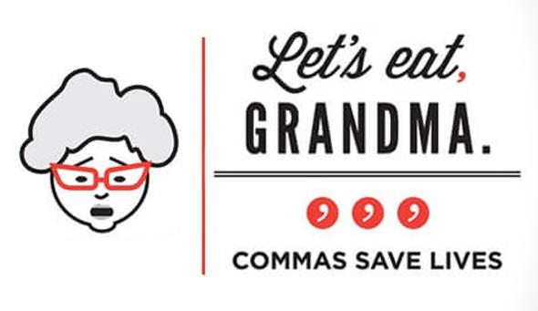 english commas